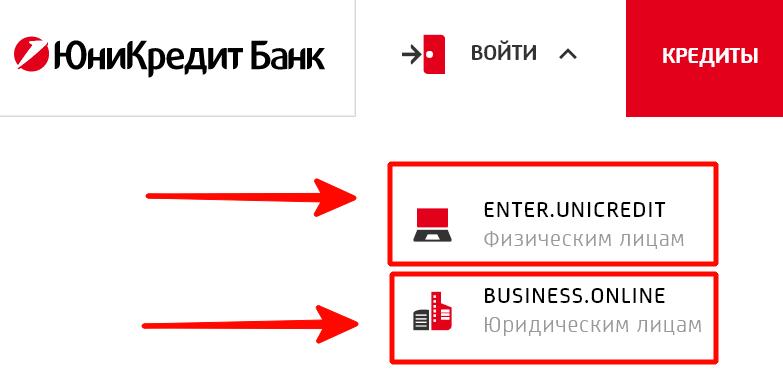 Вход в личный кабинет Юникредит Банка